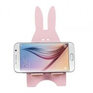 Telefoonhouder houten konijn roze